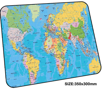World map pad mouse computador gamer mause pad 350x300mm padmouse Domineering mousepad ergonomic gadget Professional office mats фото