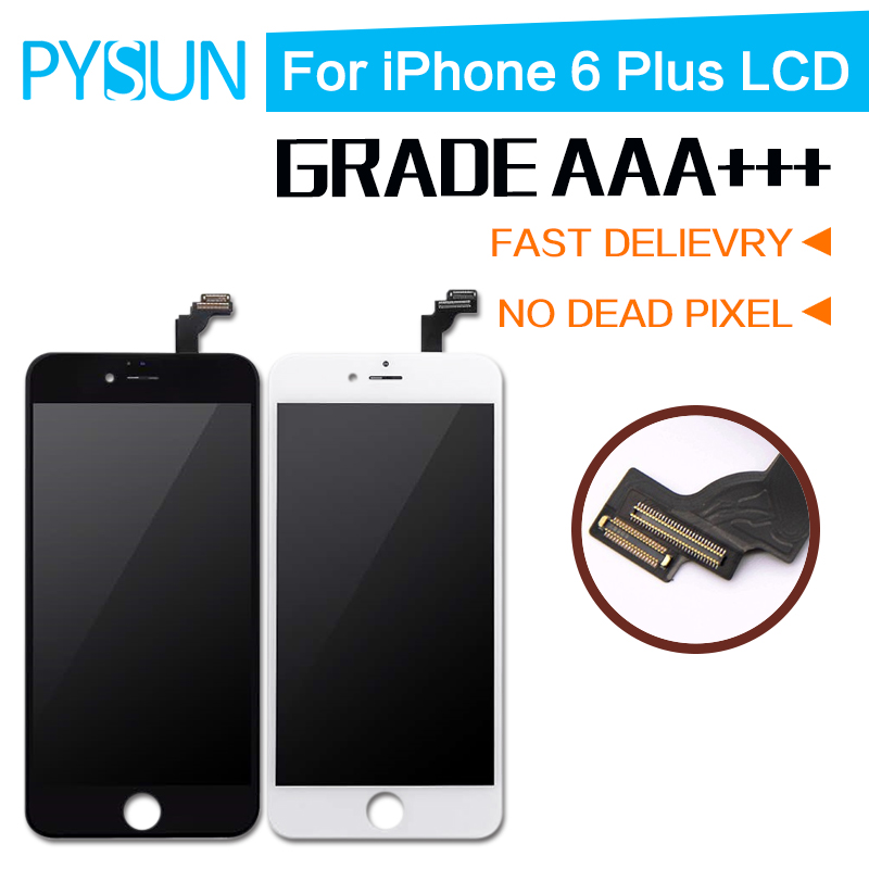 Подробнее о 10PCS Good Quality For iPhone 6 Plus LCD Screen With Touch Digitizer Display Assembly Replacement White Black Pantalla free DHL aaa quality lcd for iphone 4 4s screen display digitizer assembly replacement pantalla black white free gift tools free shipping