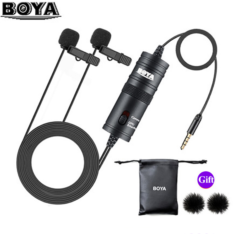 BOYA BY-M1 BY-M1DM Mic Phone Lavalier Camera Microphone Lapel Condensor Mic For Xiaomi Collar IPhone Xs X Canon DSLR PK Rode(China)