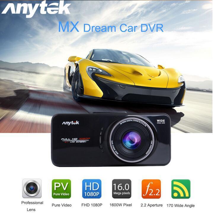 Anytek-enregistreur de caméra DVR | 100% pouces TFT, Full HD 2.7 P, AT66A, voiture DVR, Novatek, 1080 Portable, 10 pièces
