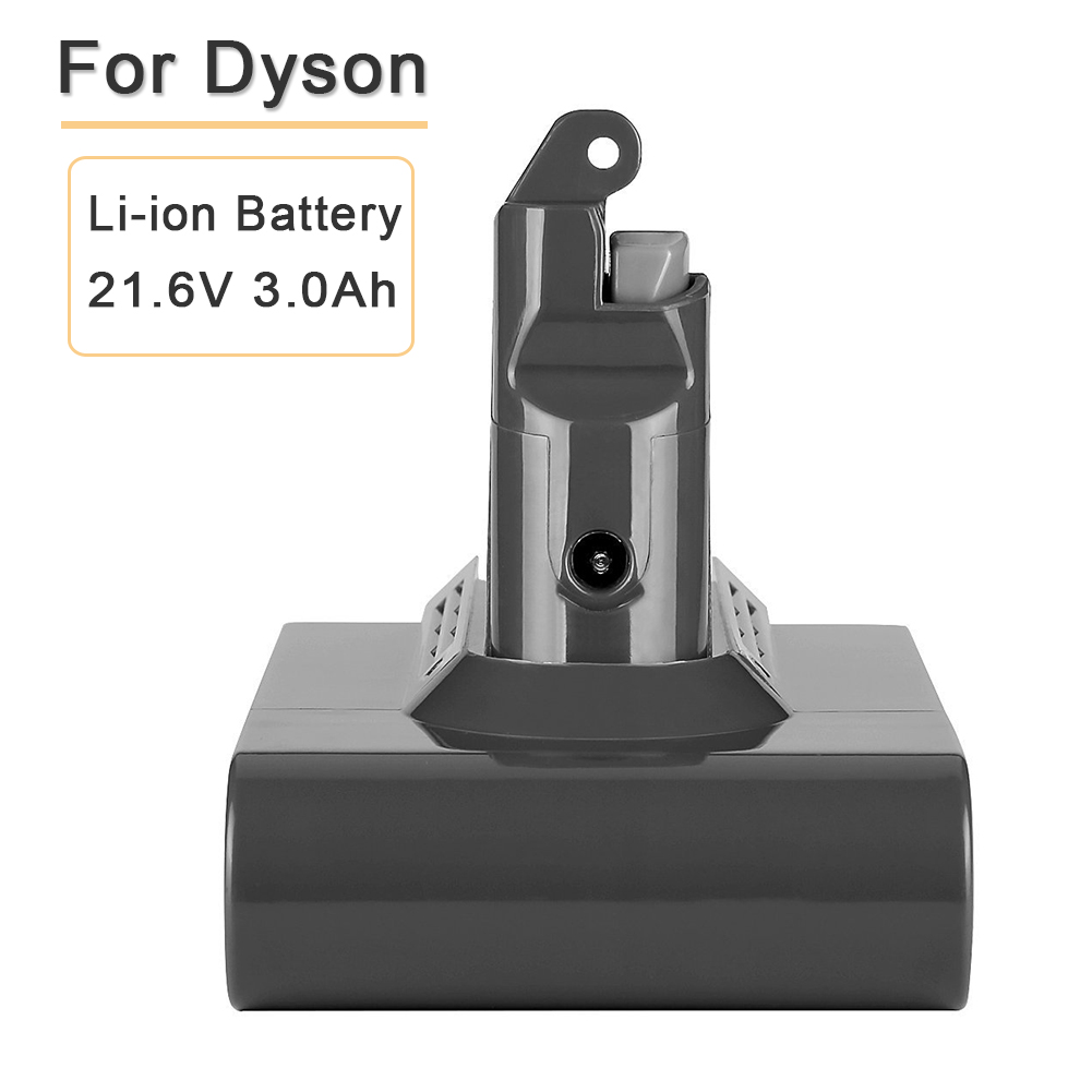 21.6V 3000mAH High Capacity Li-ion Battery Replacement for Dyson Vacuum Cleaner V6 DC61 DC62 DC58 DC59 DC72 DC74 SV09 21 6v 2200mah replacement battery for dyson li ion vacuum cleaner dc58 dc61 dc62 dc59