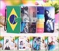 Multi cores da pintura dos desenhos animados pu de couro casos de cobertura de aleta para o prestigio muze d3 psp3530 e3 duo capa phone case com slot para cartão