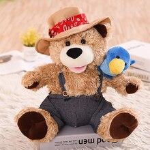Talking Singing Cowboy bear speaking plush toys Electronic stuffed animals for children girls boys baby Tiara