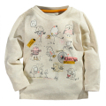 Autumn Winter 100% Cotton Kids T Shirt Cartoon Bird Long Sleeve Baby Boys Girls T-Shirt Children Pullovers Tee Boys Clothes