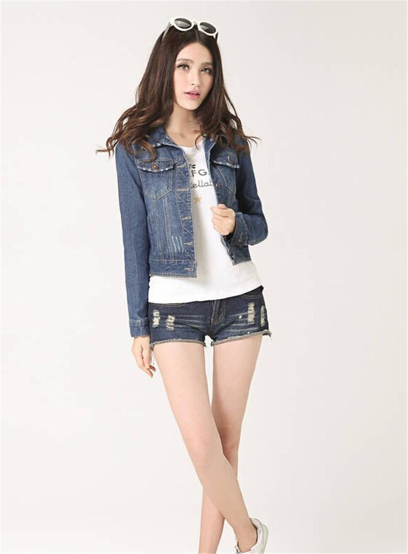 8ff6aecdfd5 New Spring Summer 2017 Plus Size Vintage Cropped Short Denim Jacket  Long-Sleeve Cardigan Coat Jeans Jacket Women