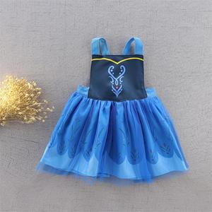 Image 5 - תינוק ילדה עמיד למים סינר שמלת בנות Cartoon נסיכת ציור סרבל שמלת כולל 2 7Y E1119