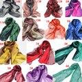 Nueva Moda Bufanda de Algodón de Lino Mujeres Gradual Mantón de las Bufandas de Seda Largo Del Cabo