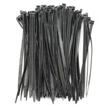 100 ШТ. Сильный Кабельные Стяжки/Стяжки Кабельные Стяжки Цвет: Черный Размер: 4.8*350 мм