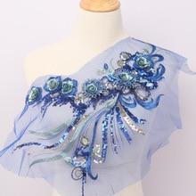 DIY Швейные платья Цветочная аппликация 3D аппликация кружевная вышивка