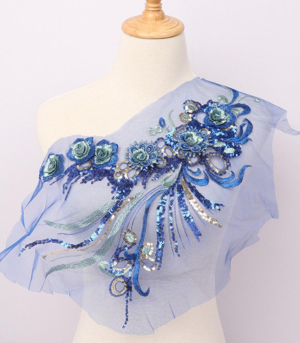 DIY Sewing Dresses Flower Applique 3D Applique Lace Embroidery
