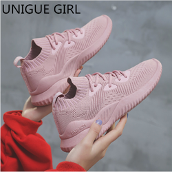 UNIGUE GIRL 2019 Spring Autumn New Fashion Lace-up Casual Shoes Woman Breathable Sneakers Women Lace-Up Female Platform Shoes