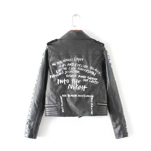 New autumn Fashion/punk/street brand style Women Lady's Rivet PU Leather Short Motorcycle Jacket Outerwear top quality