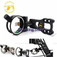 Topoint 5 Pin Bow Sight Sight Fiber With Led Light 0 029 Fiber Brass Pin Aluminum