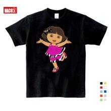 2019 children t shirt 6 years Dora girls Sweet Lovely style infant/baby cute cartoon tees Explorer girl summer tops