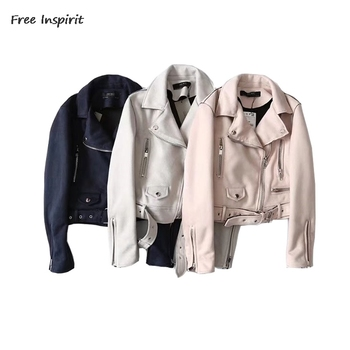 Free Inspirit 2018 New Fashion Spring & Autumn Women Jackets  Commuting Solid Zipper The Punk Косуха