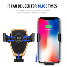 10w Qi Wireless Charger for Samsung S8 S9+ Note9 8 Fast Wireless Charging Pad Car Holder Charger for IPhone X/XS Max XR 8Plus(China)