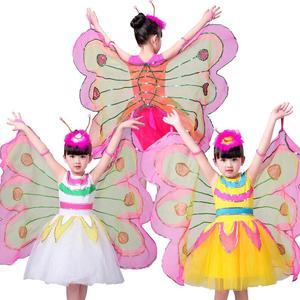 Image 2 - Nowa fantazja dziecko fantazja Halloween Infantil zwierząt skrzydła motyla karnawał dziewczyny dzieci motyl kostium