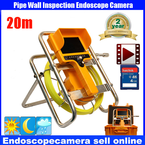 Borehole Sewer Pipe Inspection Camera System Water Pipe Well Monitoring System With 7 LCD Monitor DVR 20m Cable meter counter free shipping 20m cable drain sewer waterproof pipe camera pipeline inspection system 7 lcd dvr system 6pcs white led lights page 8
