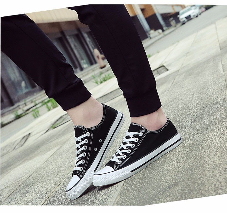 Hellozebra Men Casual Canvas Shoes Classical Lace Up Solid Flats Breathable Board Soft Leather Students Shoes 2016 Autumn New  (11)