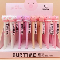 48pcs/box Cute Cartoon Lovely Pig Animal Silicone Gel Pen Creactive Stationery Office School Students Water Ink Pen Writing Pen
