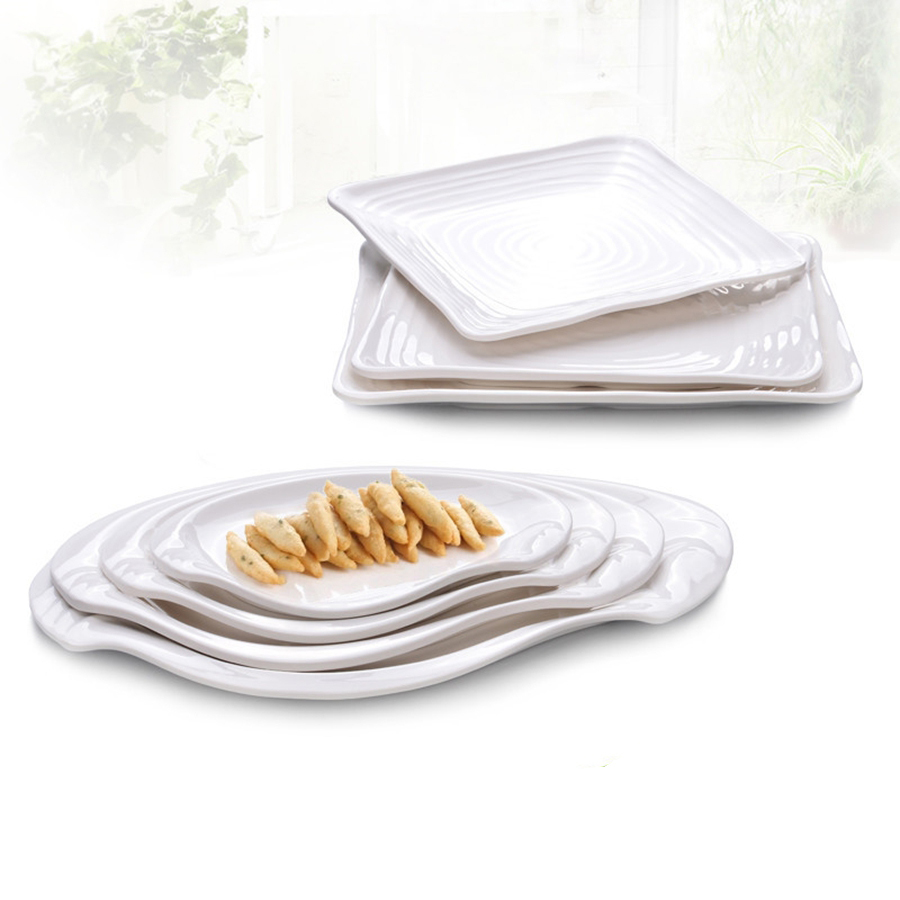 white square whole dinner plates