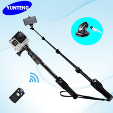Yunteng 1288 Bluetooth Extendable Handheld Monopod For Gopro Hero4/3/2 SJCAM Dslr Camera IOS Android Phone 1288 Tripod Monopod