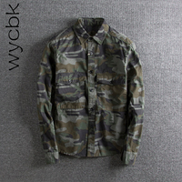 Wycbk 2018 Newest Men's Fashion Camouflage Printing Long Sleeves Fit Loose Casual Coat Cuff Shirts