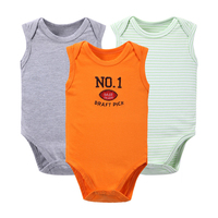3 Pcs Set Body For Newborn Baby Bodysuits Baby Girls Boys Clothes Short Sleeved Infant Children