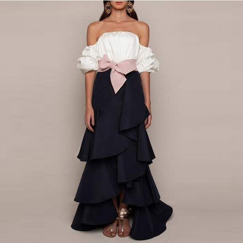 Lady Arc À Maxi Longue Femmes Mode Longueur Livraison Jupe Plancher Rose Noir De Jupes Volants Top Gratuite nWg7BW