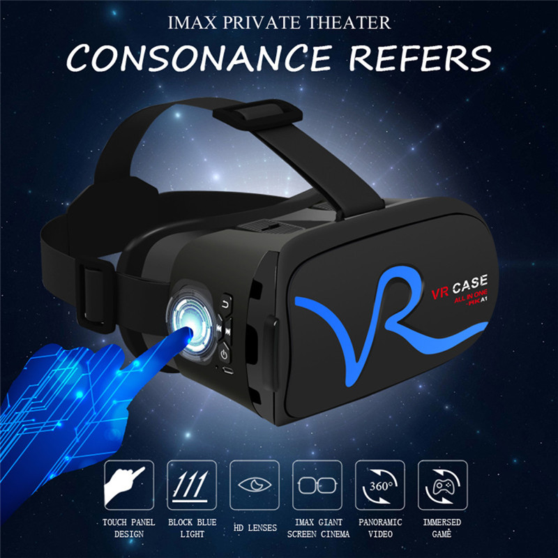 "3D VR Headset Virtual Reality Glasses VR Case All In One For 4.0""-5.8"" iPhone Samsung Moto LG Nexus HTC Wholesale 19"