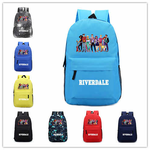 Riverdale  Printed Royal Oxfonl  backpack school bag Teenagers Daily Unisex Shoulder Zip Rucksack Notebook Laptop Bags