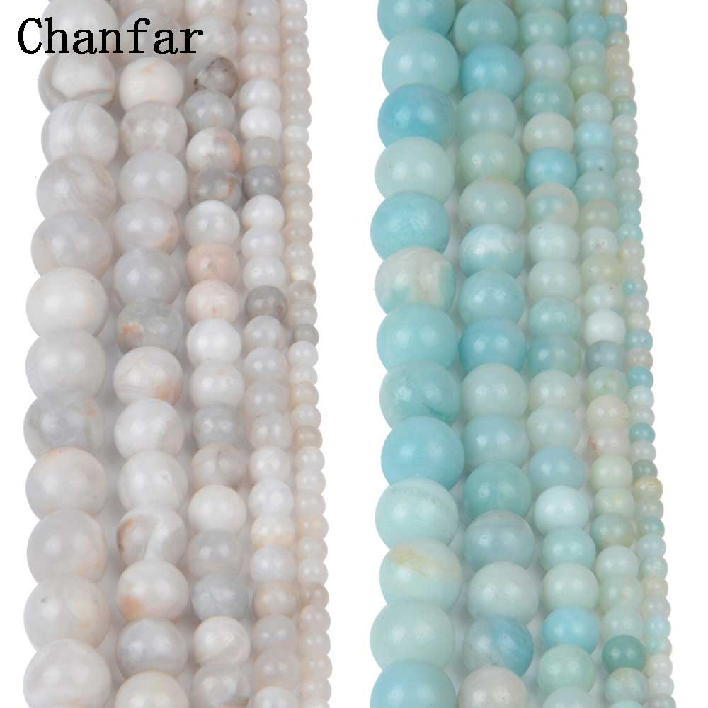 Crazy White Single Color Amazonite Beads Women Jewelry DIY Fashion Making Beads 4 6 8 10 ...