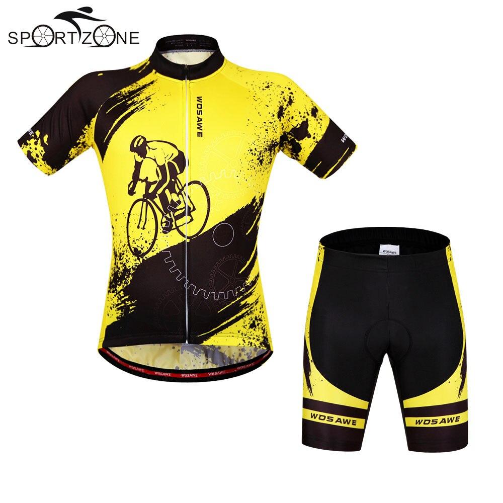 Цена за Лето Мужчины Женщины Велоспорт MTB Короткие Рукава Джерси Велосипед Наборы Рубашки Мягкий Велоспорт Носить Короткие Дышащие Униформы