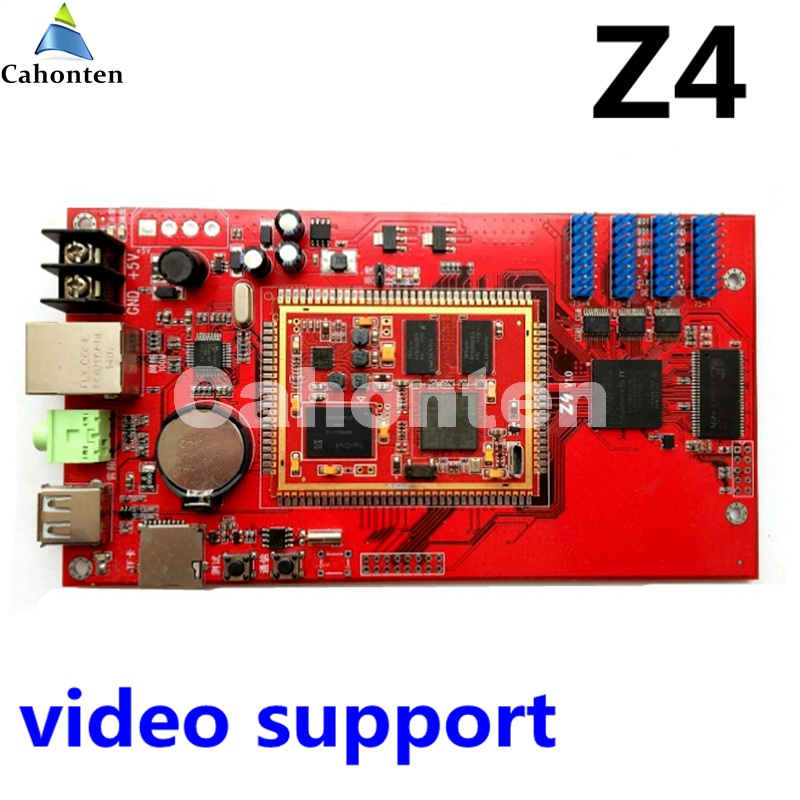 Kaler Z4 USB full color led control card Asynchronous video led Controller 1024*128pixels wireless for p3,p4,p5,p6,p8,p10 module bx 6q3 usb and ethernet port lintel full color led control card asynchronous video led sign controller 384 1024 512 768pixels