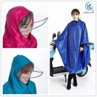 Super large thicken transparent brim bicycle raincoat poncho oxford cloth rain covers