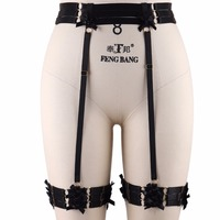 Women's Sexy Harness Panties Harajuku Gothic Suspenders Bondage Lingerie Harness Pole Dance Lingerie Socks Garters Belt P0131