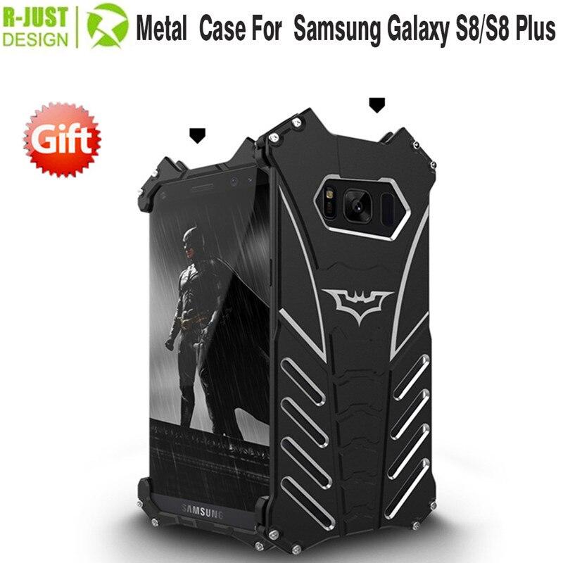 imágenes para R-JUST Bumper para samsung galaxy s8 s8 De Aluminio Al Aire Libre A Prueba de Golpes Caso de la Cubierta Para Samsung Galaxy plus negro Coque