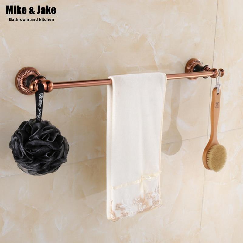 Towel Holder Bath Products,Bathroom Accessories Bathroom Towel Bar Luxury  Rose Golden Single Towel Bar,red Golden