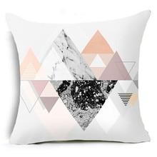 Gajjar Геометрический подушечный футляр Шкафут для подушки для подушек декоративный 45x45cm square geometir Главная mar20