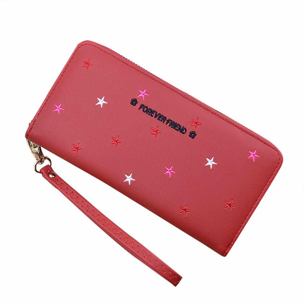 2019 กระเป๋าสตางค์ผู้หญิงน่ารักกระเป๋าสตางค์หนังผู้หญิงกระเป๋าสตางค์ซิป Portefeuille กระเป๋าถือหญิงคลัทช์ Cartera Mujer #3