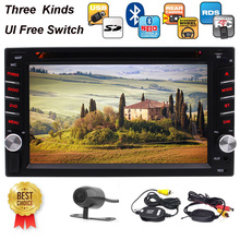 Double 2 Din In Dash DVD Player 6.2 Inch Touchscreen Stereo FM AM Car Radio USB SD Music Bluetooth 1080p Wirelesss Revising Cam