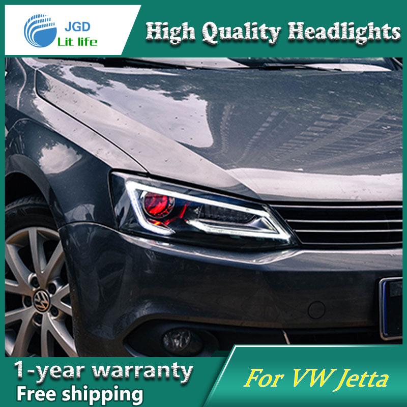 high quality Car styling case for VW Jetta Headlights 2012 2017 golf mk6 Headlights LED Headlight
