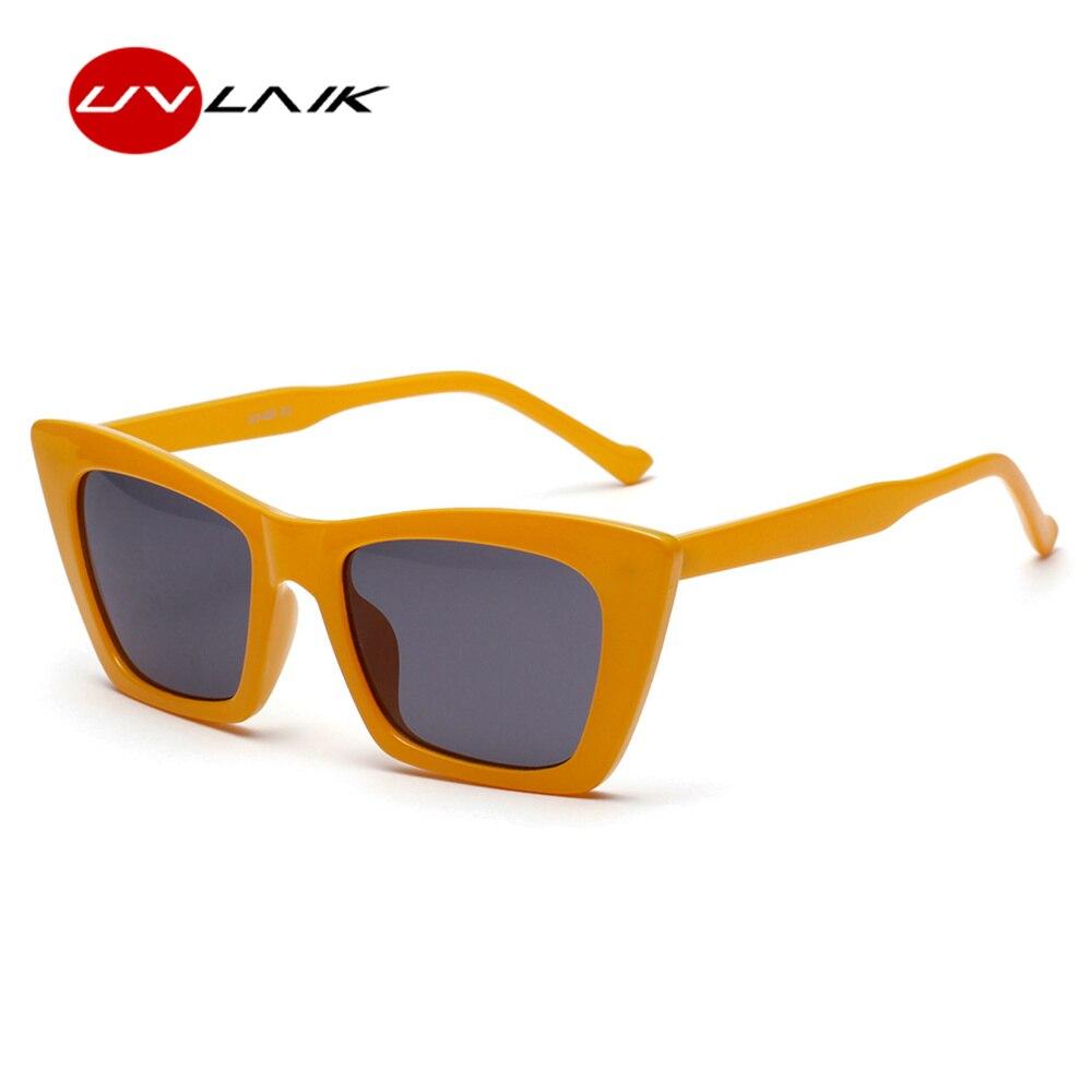 d3aaa47353 UVLAIK Fashion Luxury Cat Eye Sunglasses Women Brand Designer Vintage Flat  top Cateye Sun Glasses Shades For Women UV400