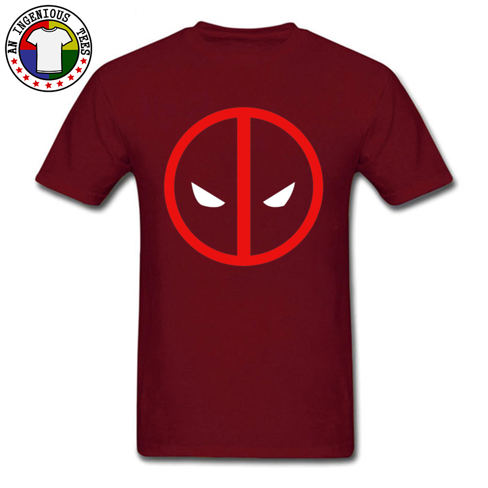Dead Pool 1226 April FOOL DAY Pure Cotton O Neck Tops Shirts Short Sleeve Geek T-shirts 2018 New Fashion Leisure Top T-shirts Dead Pool 1226 maroon
