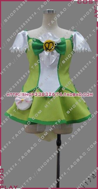 Pretty Cure, оформлять midorikawa НАО Косплэй костюм на заказ Любой Размер 1172