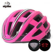 DRBIKE Bicycle Helmet with Light 57-62cm Cycling Integrally-molded Ultralight Helmet Safety for MTB Mountain Road Bike
