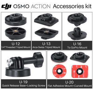 Image 1 - ULANZI Quick Release Base Mount W 3M Adhesive Tape Sticker Adapter For Gopro Hero 7/6/5 DJI Osmo Action Camera Accessories Kit