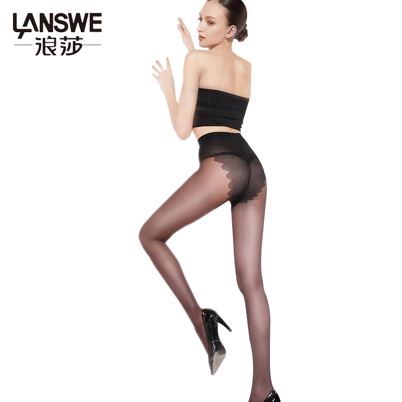 LANSWE Sexy Bikini Crotch women tights Super Elastic summer lady ultrathin Pantyhose langsha
