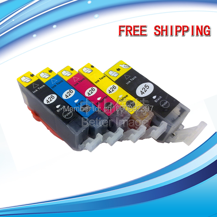 25 SETS 5C PGI-425 CLI-426 compatible inkjet cartridge for PIXMA MG5240 MG5140 MG6140 MG8140  IP4840  MX884 IX6540 etc. pgi 425 cli 425 refillable ink cartridges for canon pgi425 pixma ip4840 mg5140 ip4940 ix6540 mg5240 mg5340 mx714 mx884 mx894
