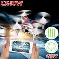 100% Original nuevo Cheerson CX-10W CX10W MINI WIFI FPV Drones RC Quadcopter con HD 0.3MP cámara UAV 2.4 G 4CH 6-Axis helicópteros juguetes